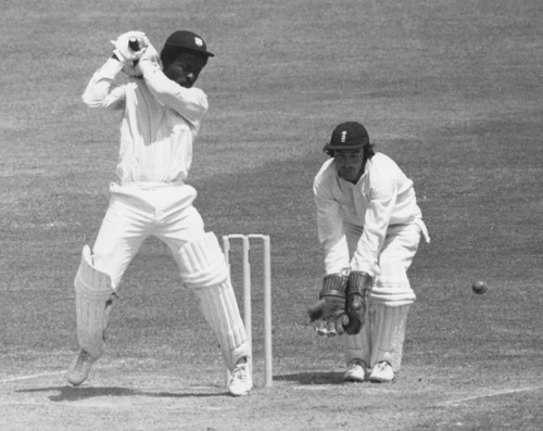 Roy Fredericks driving through the covers